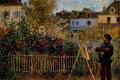 Auguste Renoir - Monet painting in his garden