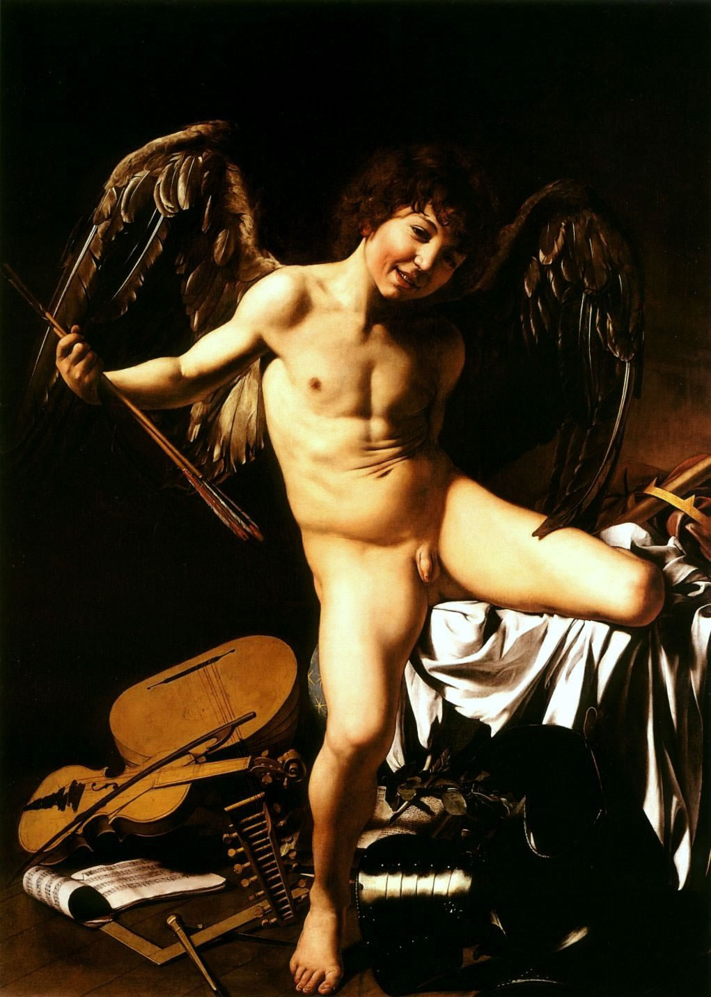 Caravaggio Michelangelo Merisi - Amor vincit omnia