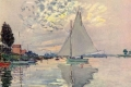 Claude Monet - Vela sulla senna ad argenteuil