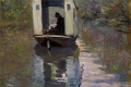 Claude Monet - Le bateau atelier the boat studio