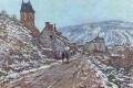 Claude Monet - Street in vetheuil in winter