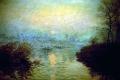 Claude Monet - Sunset at lavacourt