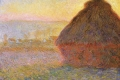Claude Monet - Haystacks sunset