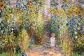 Claude Monet - The artists garden at vetheuil