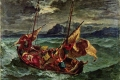Eugene Delacroix - Christ on the sea of galilee