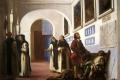 Eugene Delacroix - Columbus and his son at la rabida