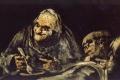 Francisco Goya - Viejos comiendo sopa