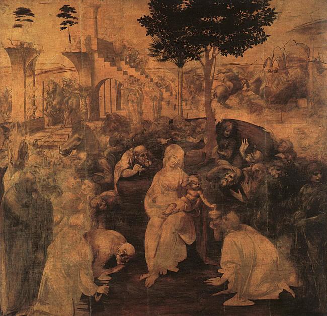 Leonardo Da Vinci - Adorazione dei magi