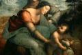 Leonardo Da Vinci - La vergine sant'Anna e il bambino con agnello