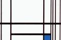 Piet Mondrian - composition with blue