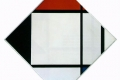 Piet Mondrian - Lozenge composition with red black blue and yellow