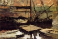 Piet Mondrian - Moored ships sun