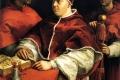 Raffaello Sanzio - Ritratto di Leone X con i cardinali Giulio De medici e Luigi De Rossi