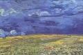 Vincent Van Gogh - Campo di grano sotto cielo nuvoloso